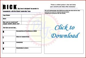 Download RICK Communication Form